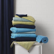 52 Colors in towels, rugs and shower