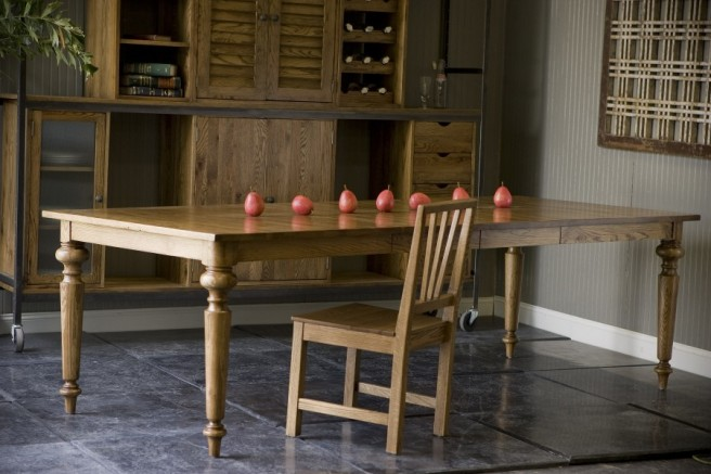 """farmhouse table with two extensions - up to 102"""""""