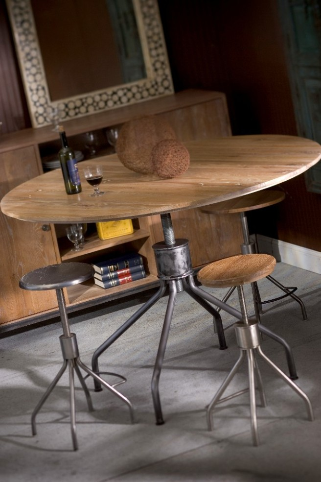 Screwtop table from dining to bar 45 or 60 inches
