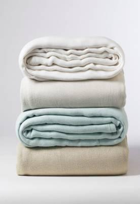 Bamboo Blankets come in White, Ivory, Sky and Hemp
