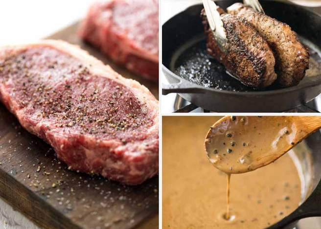 Preparation-of-Steak-with-Creamy-Peppercorn