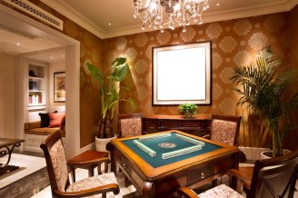 card-table-in-basement-of-luxury-home
